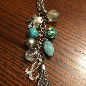 Guess Blue and Silver Necklace